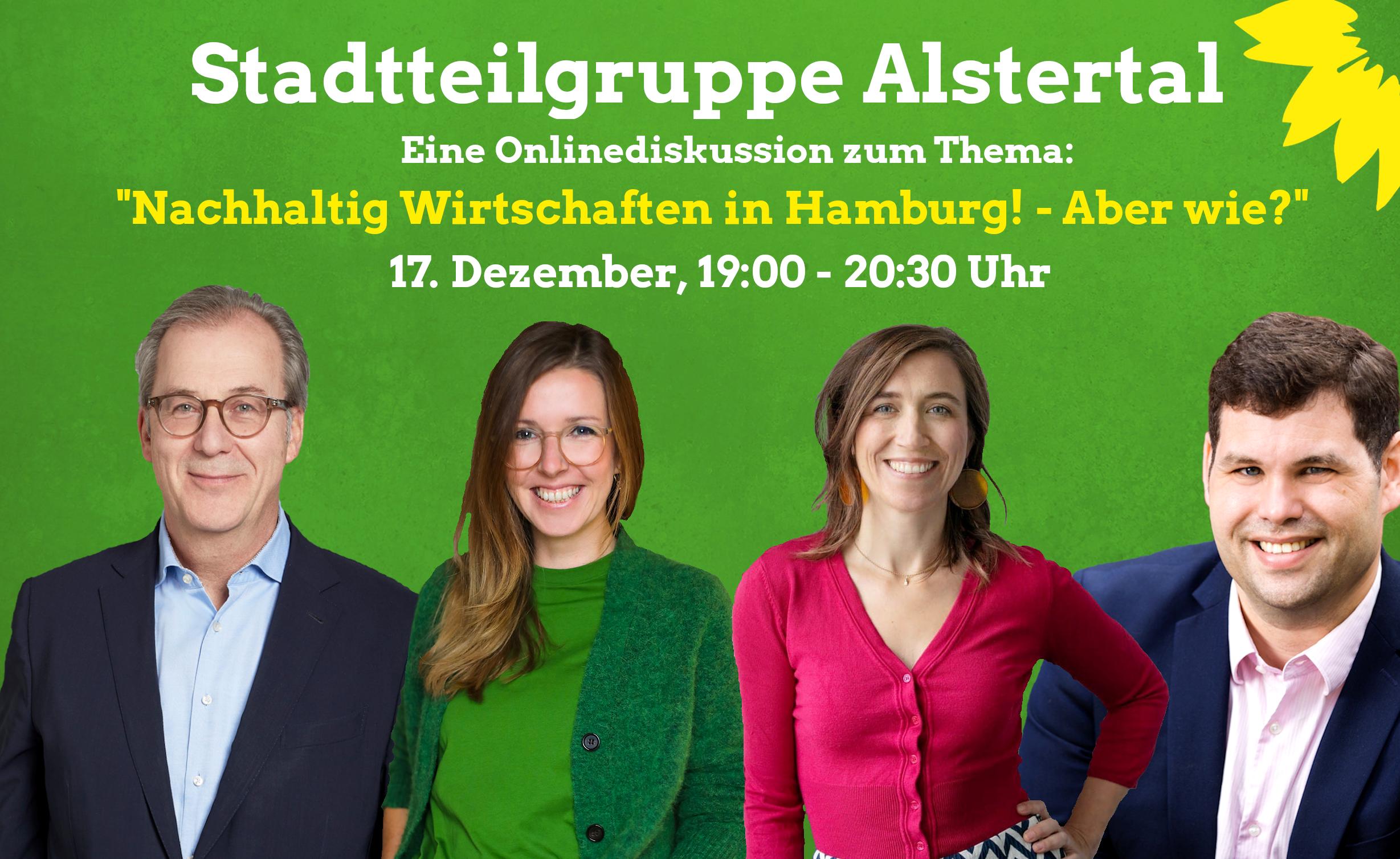 """Online Diskussion: """"Nachhaltig Wirtschaften in Hamburg – Aber wie?"""""""